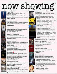 دفتر سینمایی- جدول پخش فیلم در لاس وگاس