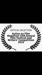 دفتر سینمایی-تصویر آرم جشنواره Action on film Megafest