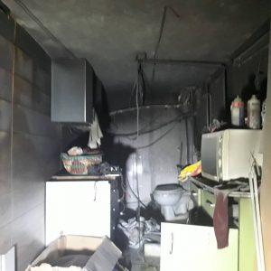 بانک اطلاعاتی و مجله خبری دفتر سینمایی ،عکس مغازه پس از مهار آتش