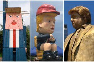 ترامپ، سردمدار مجسمههای مضحک + تصاویر